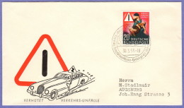"""GER SC #694  1953 """"Prevent Traffic Accidents"""", FDC 03-30-1953 - Covers"""
