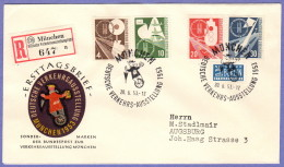 GER SC #698-701  1953 Transport And Communications Exhibit, FDC 06-10-1953 - [7] Federal Republic