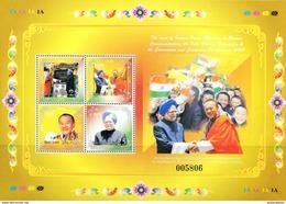 SA0429 Bhutan 2008 Prime Minister Of India To Visit S/s MNH - Bhutan