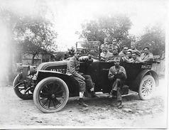 Photographie - Militaires Dans Une Voiture - Années 1920 - - Automobiles