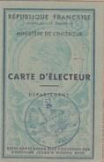 CARTE D ELECTEUR 1948 MAIRIE D HYERES VAR - TDA57 - Cartes