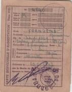 CARTE INDIVIDUELLE D ALIMENTATION TITRE 3021  MAIRIE D HYERES 1947 VAR - TDA57 - Cartes