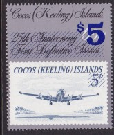 Cocos Keeling Islands 1991 $5 Provisional Ovpt Sc 236 Mint Never Hinged - Islas Cocos (Keeling)