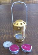 TRAVEL CAMPING A Tent Lighting Fixture With Candles Inside - Camping