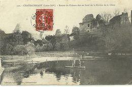 Chateaubriant Ruines Du Chateau Fort Au Bord De La Riviere De La Chere - Châteaubriant