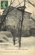 SAMATAN (Gers) Le Moulin Et Chute D' Eau Recto Verso - Autres Communes