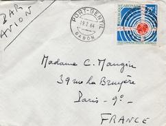 Port-Gentil Gabon 1964 - Lettre Brief Cover - Gabón (1960-...)