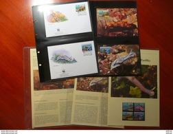 WWF Niue Nudibranch Marine Life 1999 Complete Chapter Kapitel 4v + 4 FDC CM MC MK Carte Maximum - W.W.F.