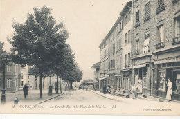 69 // COURS    La Grande Rue Et La Place De La Mairie   LL 2 - Cours-la-Ville