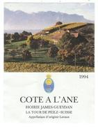 Rare // La Tour-de-Peilz, Cote à L'Ane, Hoirie James Gueydan, La Tour-de-Peilz, Vaud, Suisse - Etiquettes