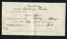 Wuerttemberg / 1887 / Quittung Fuer Telegramm-Gebuehren (1/295) - Wuerttemberg