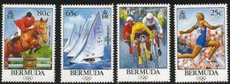 1996 Bermuda Olympics Cycling Sailing Equestrian Complete Set Of 4  MNH - Bermuda