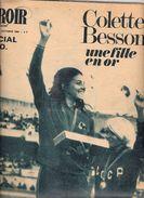 MIROIR SPRINT N° 1163 B 18 OCTOBRE 1968 JEUX OLYMPIQUES MEXICO COLETTE BESSON EN OR - Sport
