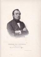 IEPER YPRES Charles VAN RENYNGHE Poperinge 1803-1871 Député échevin Burgemeester Lithographie 1857 - Historische Documenten