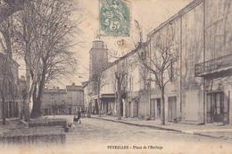 (18)    PEYROLLES - Place De L'Horloge - Peyrolles