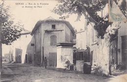 (18)    SENAS - Rue De La Fontaine Et Avenue Du Parc - Autres Communes