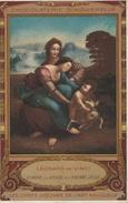 17 / 9 / 195  -    CHOCOLATERIE  D'AIGUEBELLE  - LÉONARD  DE  VINCI  -  STE  ANNE,  LA  VIERGE  ET  L'ENFANT  JÉSUS - Advertising