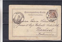 Autriche - Carte Postale De 1898 - Oblit Triest - Exp Vers Nachod En Bohème - Grüss Aus Triest - Hotel Europa - Storia Postale