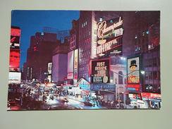 ETATS-UNIS NY NEW YORK CITY NEW YORK'S TIME SQUARE BROADWAY & 46 St. - Time Square