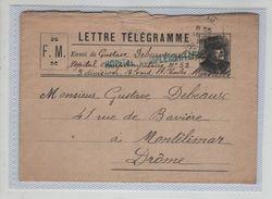 Lettre Télégramme Debeaux Hôpital 53 FM  1916 - 1914-18