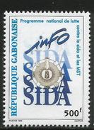 1996 Gabon Aids SIDA Health Complete Set Of 1 MNH - Gabon (1960-...)