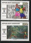 1996 Gabon Olympics Boxing   Complete Set Of 2 MNH - Gabon