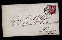 A4913) DR Ganzsachen-Brief Mi.U9 Von Halle 20.1.77 - Deutschland