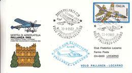 Italie - Lettre De 1982 - Oblit Pallanza - Vol Hélicoptère Pallanza Locarno - Avions - 6. 1946-.. Repubblica