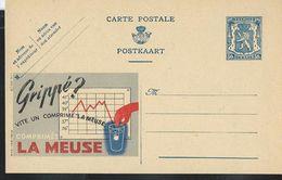 """Publibel Neuve N° 548 ( Grippé ? Vite Un Comprimé """"La Meuse) - Entiers Postaux"""