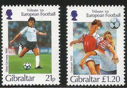 1996 Gibraltar European Football    Complete Set Of 4 MNH - Gibilterra