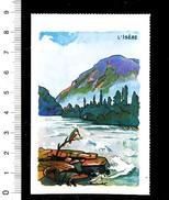 Image Bon-point Rivière Isère Près De Notre-Dame De Briançon Oiseau Martin-pêcheur IM175/16 - Unclassified