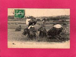 Agriculture, A La Campagne, Retour Des Coupeuses D'Herbe, Animée, (L'Hirondelle) - Cultivation