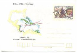 Italia, 1992, Biglietto Postale, Cristoforo Colombo, IV Viaggio,  L. 700, Nuovo - Cristoforo Colombo