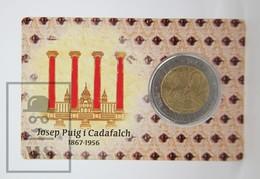 Catalunya/ Catalonia 2017 Private Proof Commemorative 2 Euro Coin Card - Josep Puig I Cadafalch Anniversary - EURO