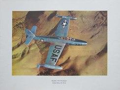 Photo AVION  REPUBLIC  F - 84  THUNDERJET - UNITED STADES AIR FORCE   (4396) - Aviation
