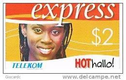 MALAWI   - TELEKOM (GSM RECHARGE) - GIRL  $ 2      - USED  -  RIF. 801 - Malawi