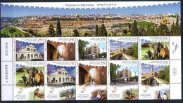 Israel 2016 Tourism In Jerusalem, Architecture, Fauna - Blocks & Sheetlets