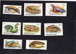 Guinée:FAUNE Reptiles Et Batraciens Lot De 5 Valeurs Non Dentelées  N°596** à 603** - Reptiles & Batraciens