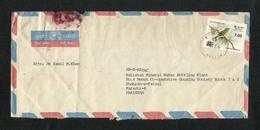 Sri Lanka Ceylon Surcharge Value Overprint  Air Mail Postal Used Cover Sri Lanka To Pakistan Birds Bird Animal - Sri Lanka (Ceylan) (1948-...)