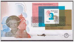 Nederland / Netherlands 2009 FDC 587 3 Generations Of Queens Wilhelmina Juliana Beatrix S/S - FDC