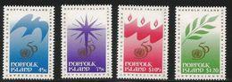 1995 Norfolk Island United Nations UN  Complete Set Of 4 MNH - Ile Norfolk