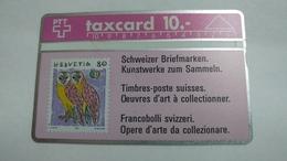 Switzerland-(s011.1B-p11b)-owls-(10chf)-(201c)-tirage-100.000-used Card - Suisse
