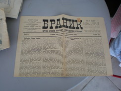 Branik Organ Srpske Narodne Slobodoumne Stranke 1900 Novi Sad - Books, Magazines, Comics