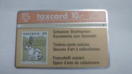 Switzerland-(s012.2C-p12b)-rabbit-(10chf)-(202c)-tirage-92.000-used Card - Suisse