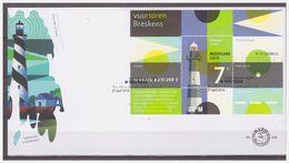Nederland / Netherlands 2010 FDC 606 Vuurtoren Lighthouse S/S - FDC