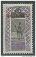 Haute Volta  N ° 17 XX 5 F.  Violet Et Noir Sans Charnière, TB - Obervolta (1920-1932)
