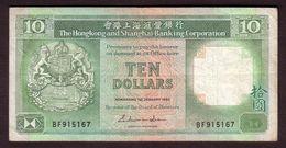 HONG KONG - Billet 10 Dollars Du 01 01 1986 - Pick 191a TTB - Hong Kong