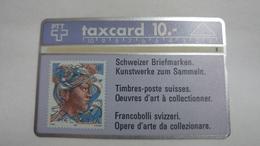 Switzerland-(s013.C-p13)-hans Eri 50rp-(10chf)-(110b)-tirage-100.000-used Card - Suisse