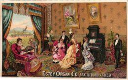 1 Trade Card Chromo  Fabrique Piano Pub. Estey  Pianos & Organs   Brattleboro Vermont  USA  Lithography - Andere