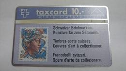 Switzerland-(s013.E-p13)-hans Eri 50rp-(10chf)-(111g)-tirage-28.000-used Card - Suisse